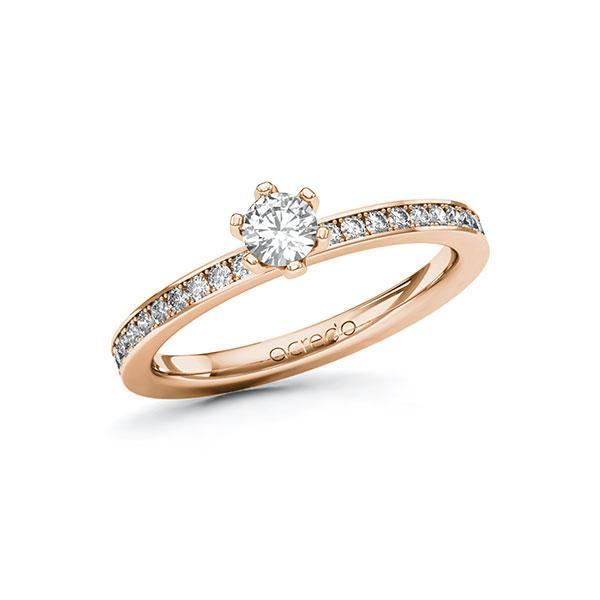 Verlobungsring Diamantring 0,45 ct. tw, si Rotgold 585