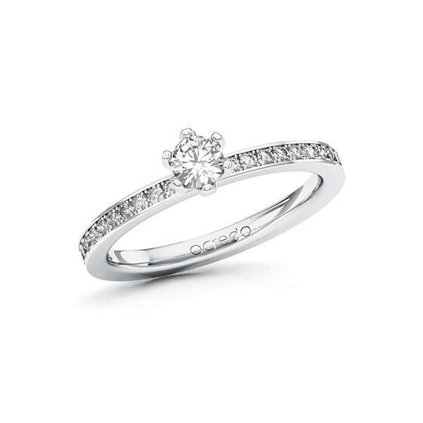 Verlobungsring Diamantring 0,45 ct. tw, si Weißgold 585