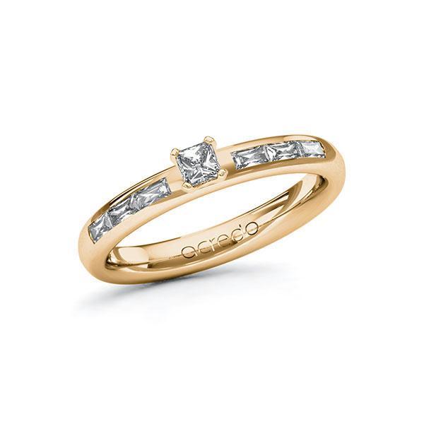 Verlobungsring Diamantring 0,45 ct. tw, vs Roségold 585