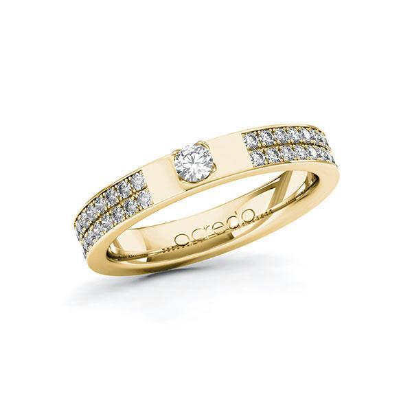 Verlobungsring Diamantring 0,46 ct. tw, si Gelbgold 585