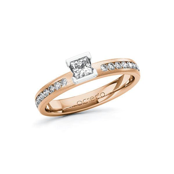 Verlobungsring Diamantring 0,49 ct. tw, si Rotgold 585 Weißgold 585