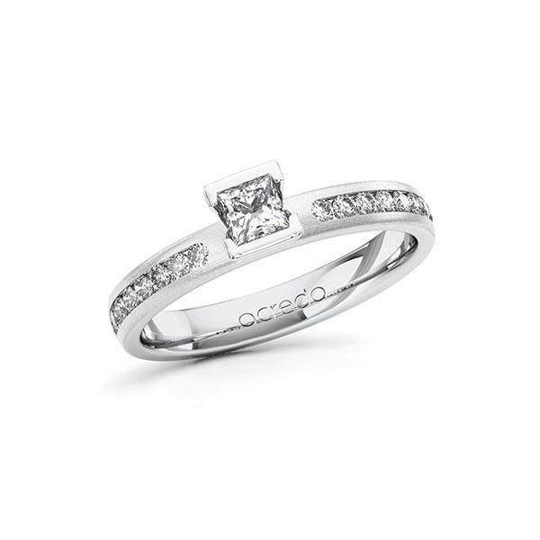 Verlobungsring Diamantring 0,49 ct. tw, si Weißgold 585