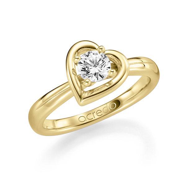 Verlobungsring Diamantring 0,4 ct. G SI Gelbgold 585