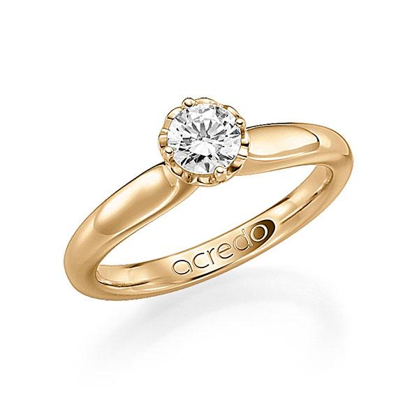 Verlobungsring Diamantring 0,4 ct. G SI Roségold 585