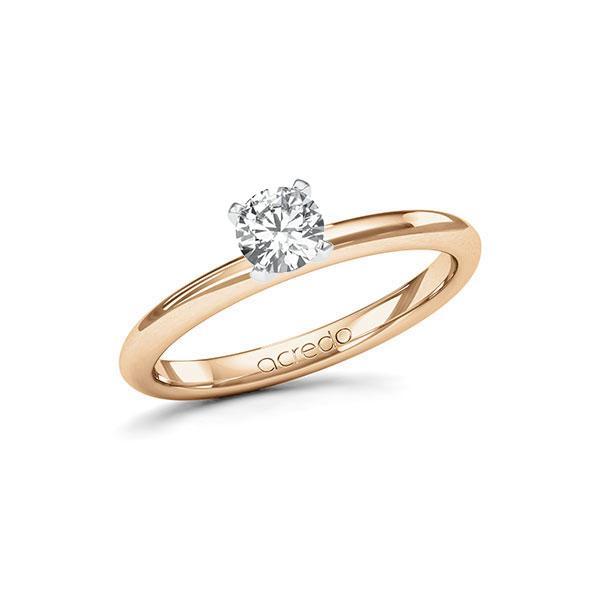 Verlobungsring Diamantring 0,4 ct. G SI Roségold 585 Weißgold 585