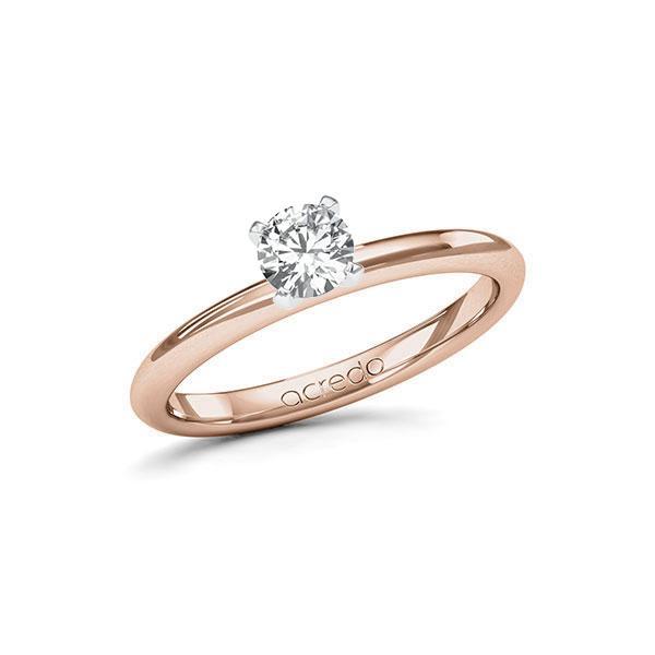 Verlobungsring Diamantring 0,4 ct. G SI Rotgold 585 Weißgold 585