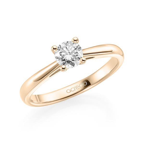 Verlobungsring Diamantring 0,4 ct. G SI Signature Gold 585