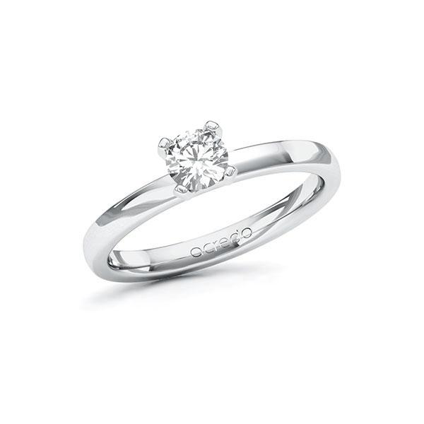 Verlobungsring Diamantring 0,4 ct. G SI Weißgold 585