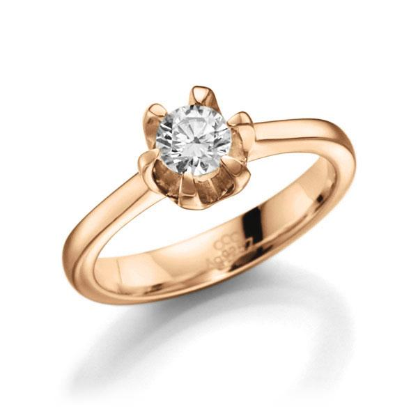 Verlobungsring Diamantring 0,4 ct. G VS Roségold 585