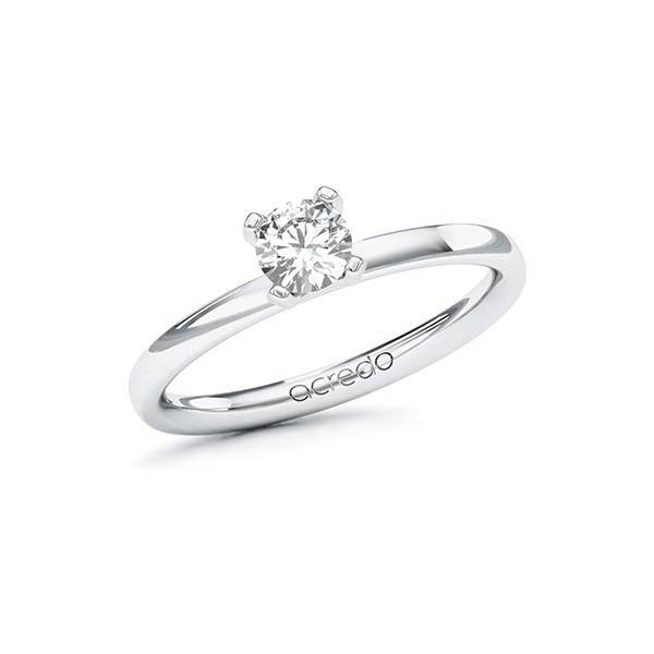 Verlobungsring Diamantring 0,4 ct. G VS Weißgold 585