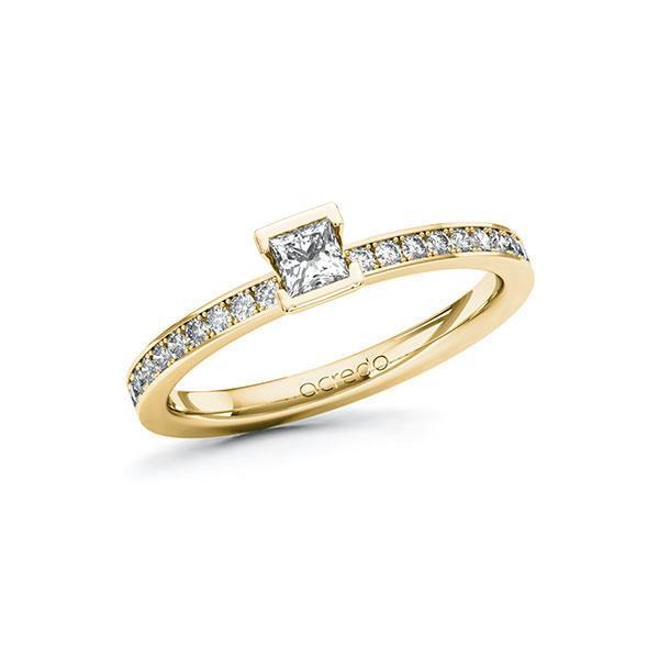 Verlobungsring Diamantring 0,4 ct. tw, si Gelbgold 585