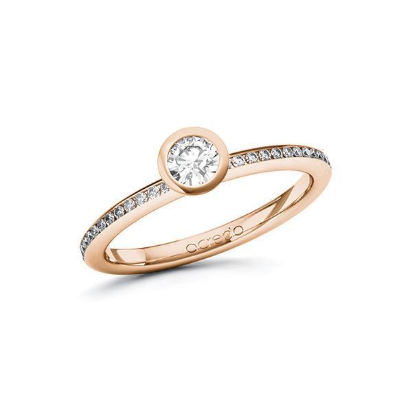Verlobungsring Diamantring 0,4 ct. tw, si Rotgold 585
