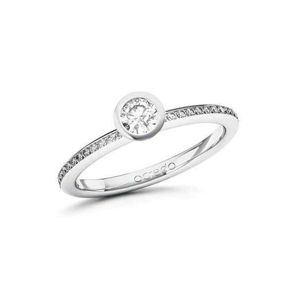 Verlobungsring Diamantring 0,4 ct. tw, si Weißgold 585