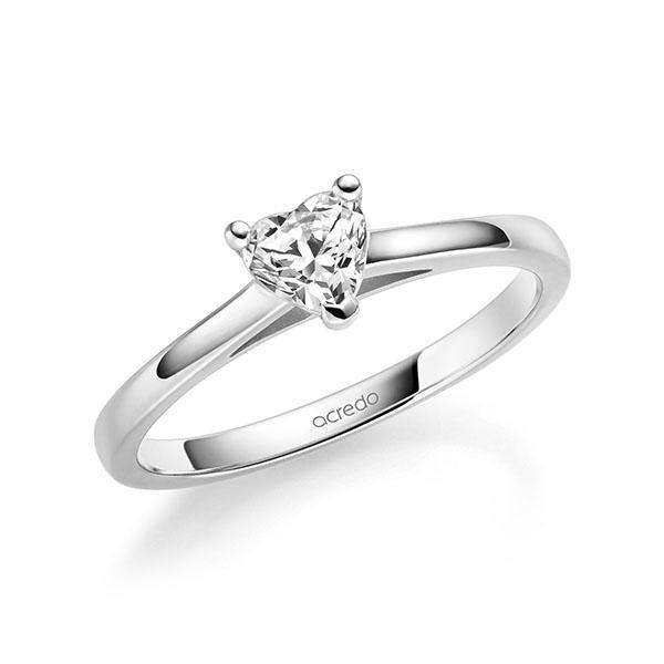 Verlobungsring Diamantring 0,4 ct. tw, vs Weißgold 585