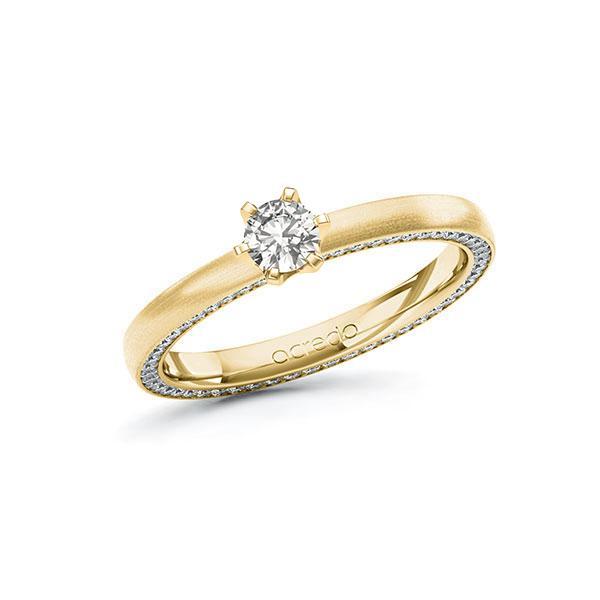Verlobungsring Diamantring 0,54 ct. tw, si Gelbgold 585