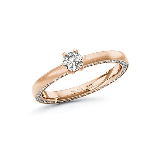 Verlobungsring Diamantring 0,54 ct. tw, si Rotgold 585