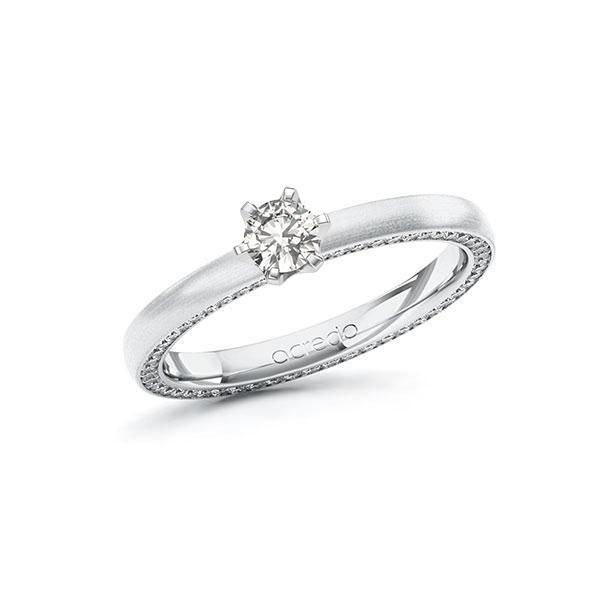 Verlobungsring Diamantring 0,54 ct. tw, si Weißgold 585