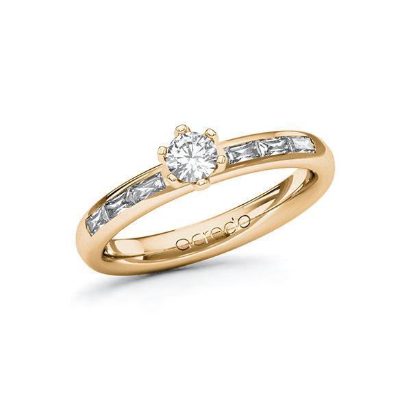 Verlobungsring Diamantring 0,55 ct. tw, vs Roségold 585