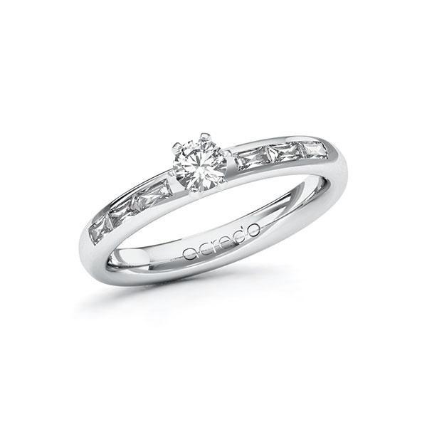 Verlobungsring Diamantring 0,55 ct. tw, vs Weißgold 585
