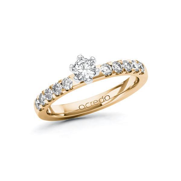 Verlobungsring Diamantring 0,55ct. tw, si Roségold 585 Weißgold 585