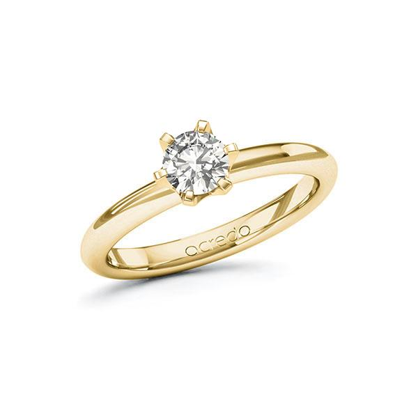 Verlobungsring Diamantring 0,5 ct. G SI Gelbgold 585