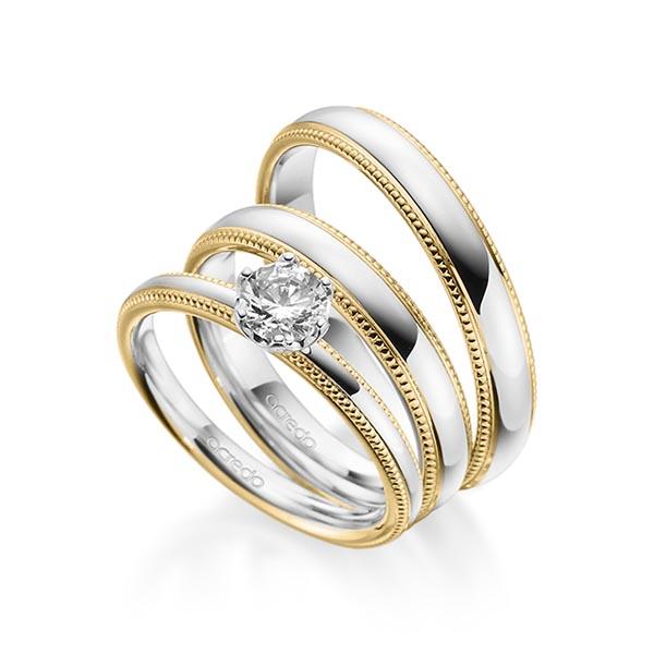 Verlobungsring Diamantring 0,5 ct. G SI Gelbgold 585 Weißgold 585