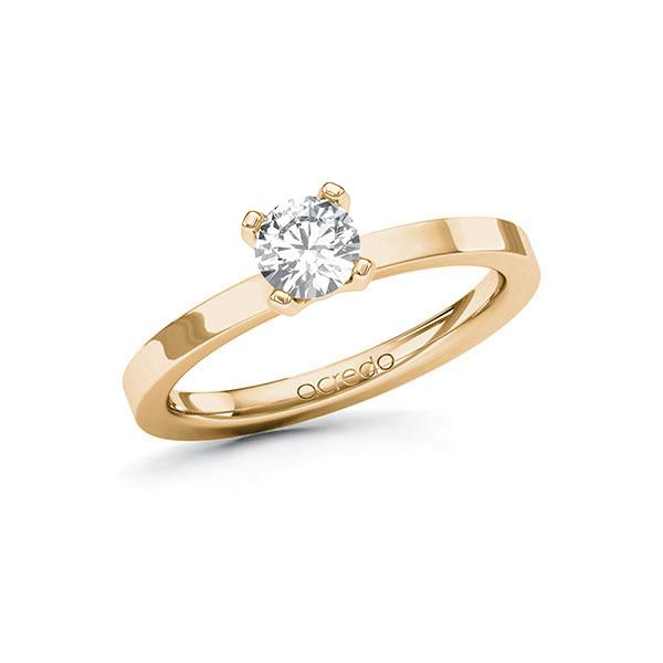 Verlobungsring Diamantring 0,5 ct. G SI Roségold 585