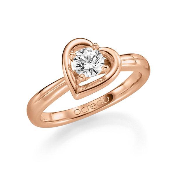Verlobungsring Diamantring 0,5 ct. G SI Rotgold 585