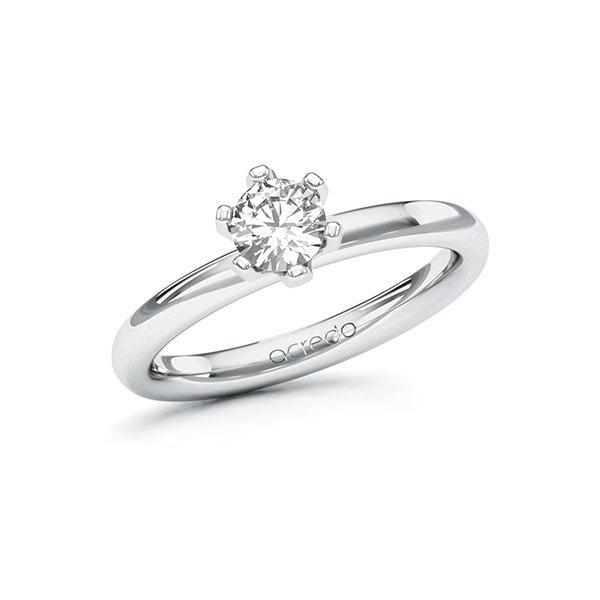 Verlobungsring Diamantring 0,5 ct. G SI Weißgold 585