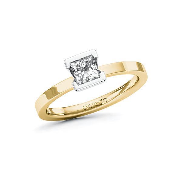 Verlobungsring Diamantring 0,5 ct. G VS Gelbgold 585 Weißgold 585