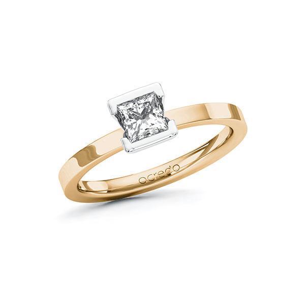Verlobungsring Diamantring 0,5 ct. G VS Roségold 585 Weißgold 585