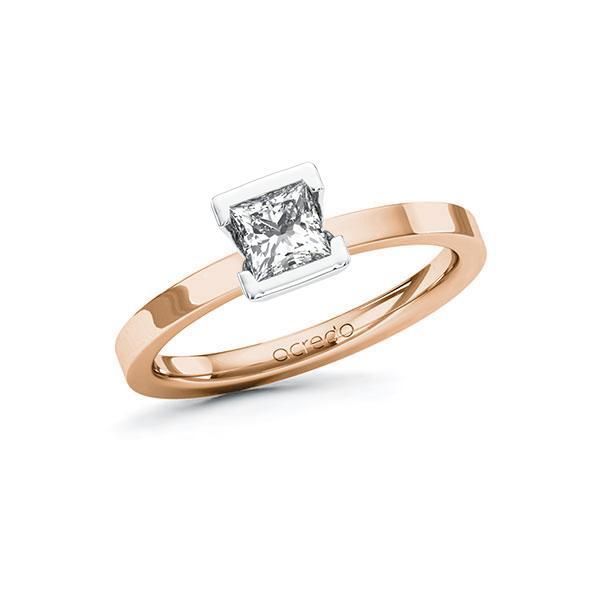Verlobungsring Diamantring 0,5 ct. G VS Rotgold 585 Weißgold 585