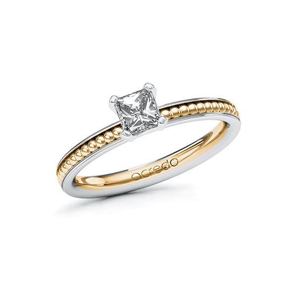 Verlobungsring Diamantring 0,5 ct. G VS Weißgold 585 Roségold 585