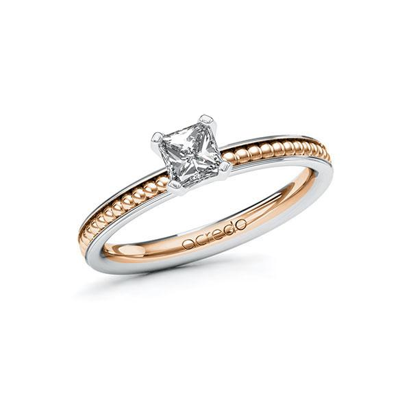 Verlobungsring Diamantring 0,5 ct. G VS Weißgold 585 Rotgold 585