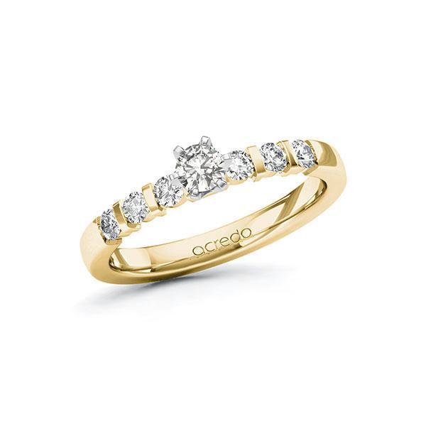 Verlobungsring Diamantring 0,5 ct. tw, si Gelbgold 585 Weißgold 585