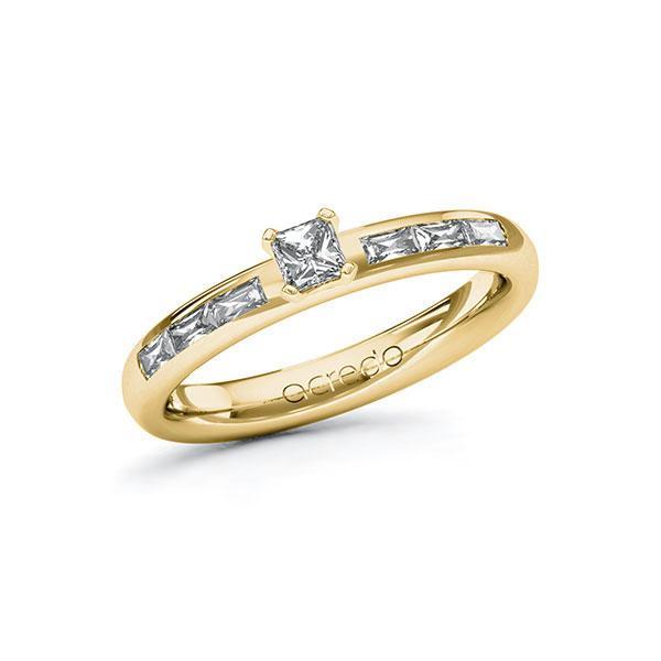 Verlobungsring Diamantring 0,5 ct. tw, vs Gelbgold 585