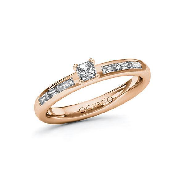 Verlobungsring Diamantring 0,5 ct. tw, vs Rotgold 585