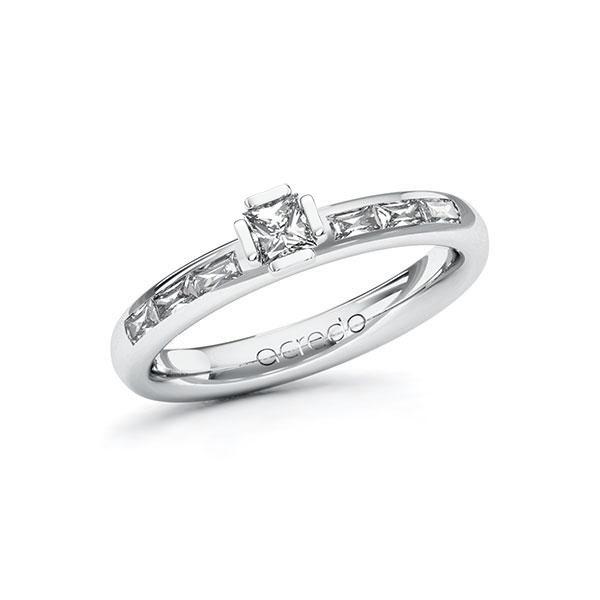 Verlobungsring Diamantring 0,5 ct. tw, vs Weißgold 585