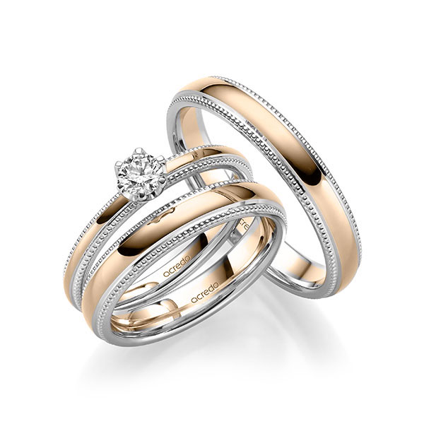 Verlobungsring Diamantring 0,5ct. G SI Weißgold 585 Signature Gold 585