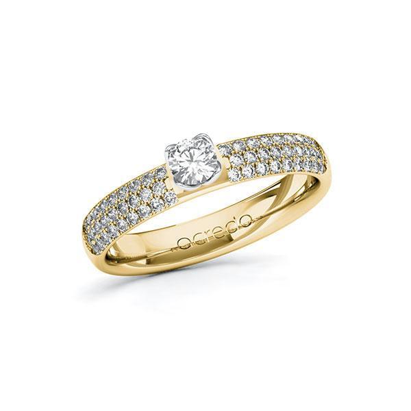 Verlobungsring Diamantring 0,632ct. tw, si Gelbgold 585 Weißgold 585