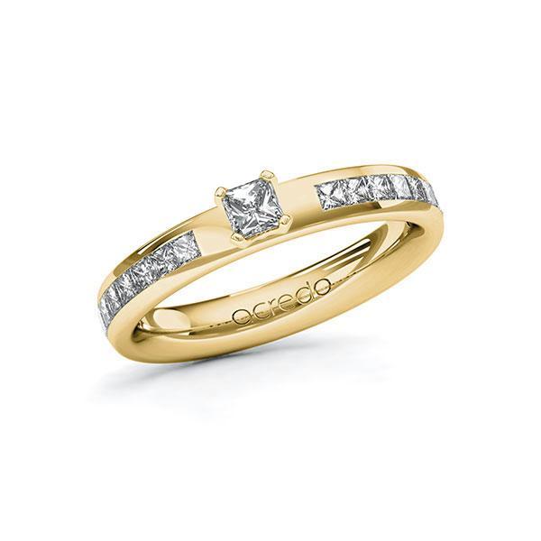 Verlobungsring Diamantring 0,68 ct. tw, si Gelbgold 585