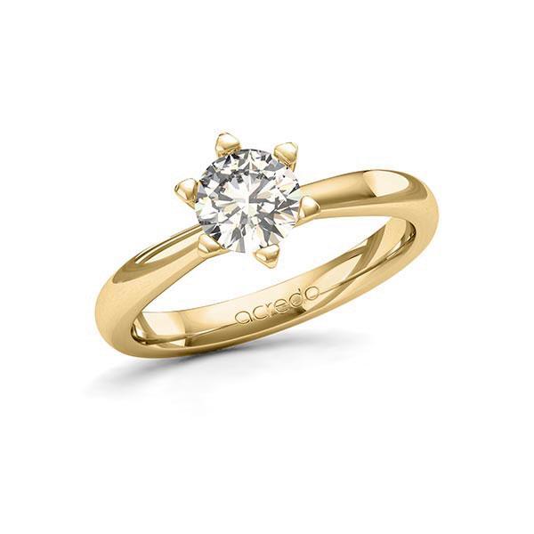 Verlobungsring Diamantring 0,7 ct. G SI Gelbgold 585