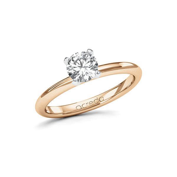 Verlobungsring Diamantring 0,7 ct. G SI Roségold 585 Weißgold 585