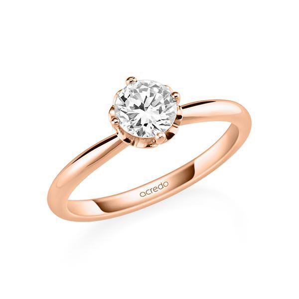 Verlobungsring Diamantring 0,7 ct. G SI Rotgold 585