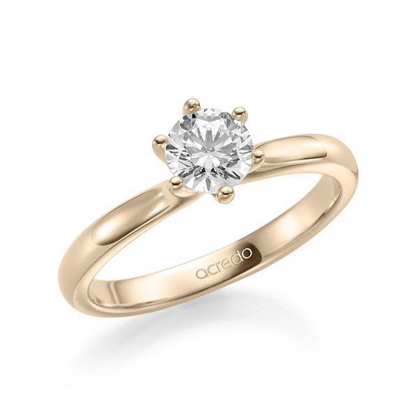 Verlobungsring Diamantring 0,7 ct. G SI Signature Gold 585