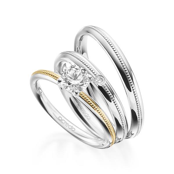 Verlobungsring Diamantring 0,7 ct. G SI Weißgold 585 Gelbgold 585