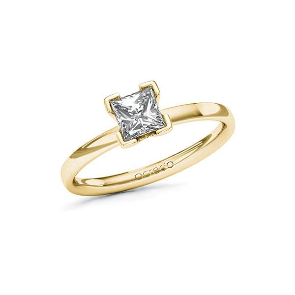 Verlobungsring Diamantring 0,7 ct. G VS Gelbgold 585
