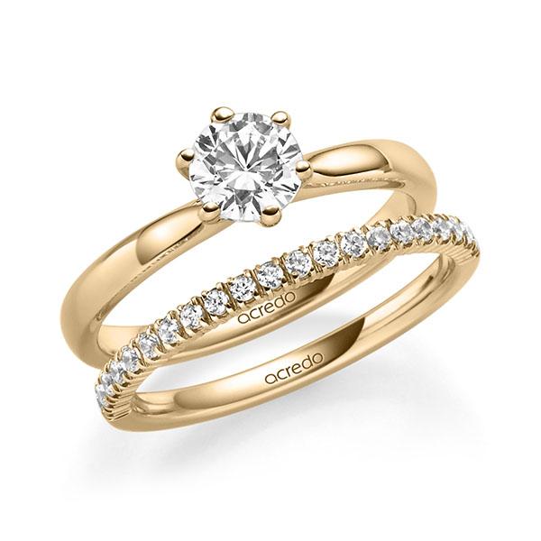 Verlobungsring Diamantring 0,7 ct. G VS Roségold 585