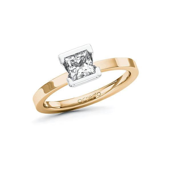 Verlobungsring Diamantring 0,7 ct. G VS Roségold 585 Weißgold 585
