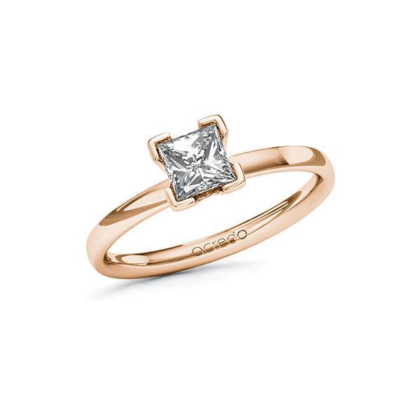 Verlobungsring Diamantring 0,7 ct. G VS Rotgold 585